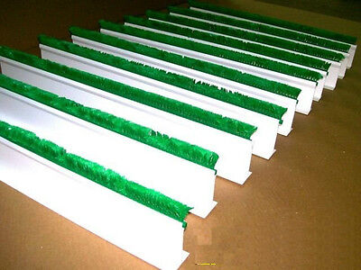 "QTY (10) 3""H x 30""L White Dividers w/ 1"" Green Parsley Supermarket Display Case"