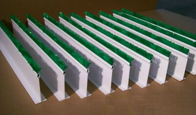 "QTY (10) 5""H x 30""L White Dividers w/ 1"" Green Parsley for Supermarket Meat Case"