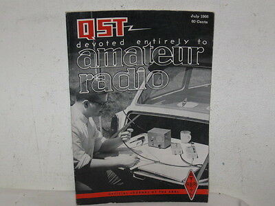 Vintage QST Amateur Radio Magazine July 1966 VFC 168 pages Fine Ads