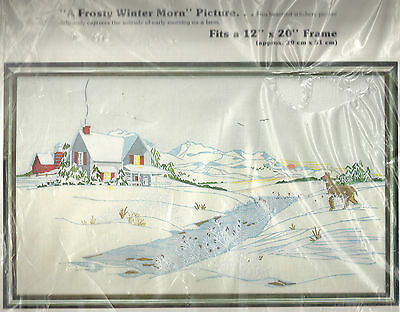 A Frosty Winter Morn - Vintage Paragon Crewel Embroidery Kit