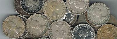 LOT OF 100 1953-1967 British Wedding Q E Lucky Sixpence - CLOSEOUT PRICE