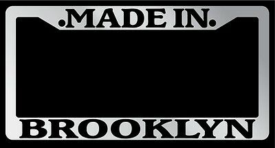 Chrome License Plate Frame Made in Brooklyn Auto Accessory 1146