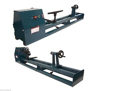 "1/2 HP 4 Speed 40 Inch Wood Turning Lathe Machine 120v 14"" x 40"" with 6pc Chisel"