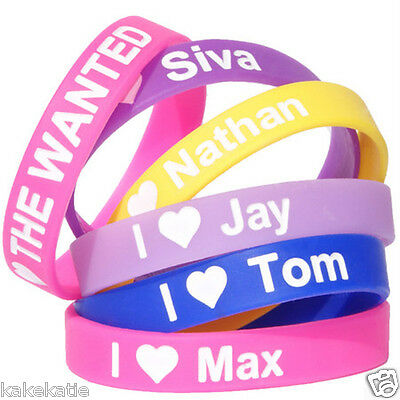 THE WANTED love wristband silicone bracelet / wrist band bangle gift fashion
