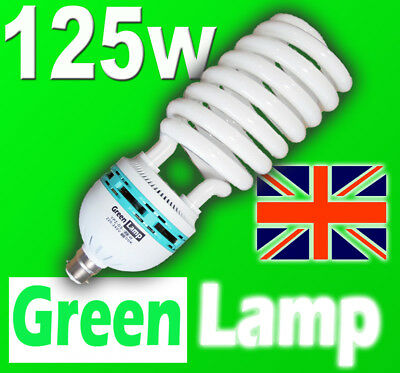 125w Energy Saving CFL Daylight 6400k SAD light Bulb BC B22 Bayonet