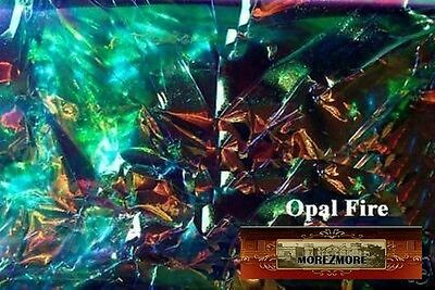 M00339 MOREZMORE Angelina Fantasy Film OPAL FIRE BLUE Heat Bondable 50' A60