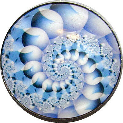 """FREE US SHIPPING 1/"""" Crystal Dome Button Mystical Spiral #6 Gorgeous"""