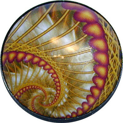 Gorgeous! Crystal Dome Button Abstract Spiral Art - 1 inch ABST 11 FREE US SHIPP