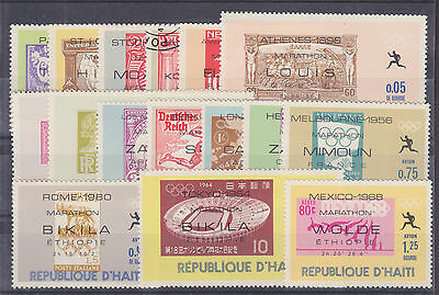 Haiti Sc 616-616Q MNH. 1969 Olympic Winners cplt incl perf & imperf Souv Sheets