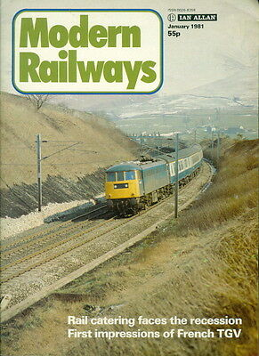 1981 Modern Railways Magazine: Rail Catering Faces Recession/French TGV