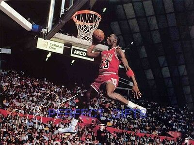 Michael Jordan Signed 10X8 Repro Pp Photo Print