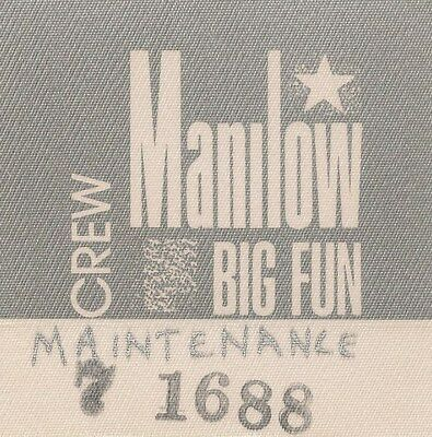 BARRY MANILOW Mint BACKSTAGE PASS ~S.F. Shoreline Amphitheater 1988~ Ohh Mandy!