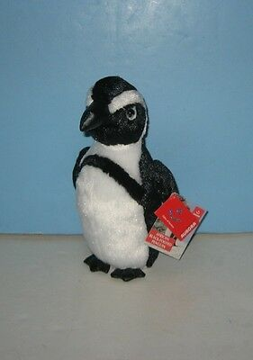 "New 9"" African Black Footed Penguin Bean Stuffed Plush Animal by Aurora"