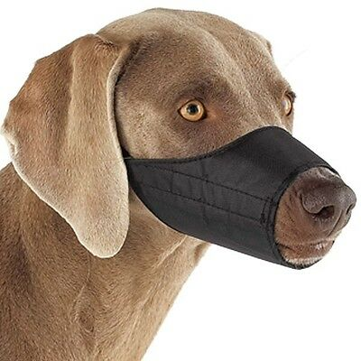 Guardian Gear Lined Nylon Dog Muzzle Grooming 0-5XL Black
