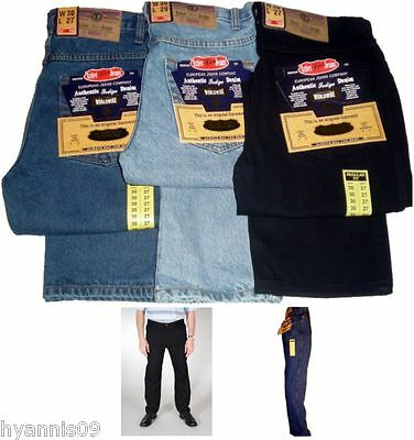 Jeans Heavy Duty Mens Straight Regular Fit Work Casual Pants