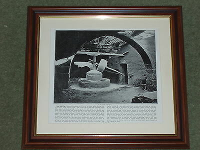 1895 Print over 120 years old The Delta Primitive Corn Mill available unframed x