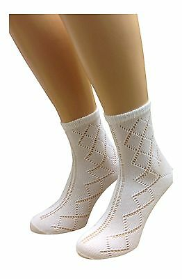 GIRLS SOCKS 3 Pairs of  ANKLE LENGTH SOCKS, PELERINE, GREAT FOR SCHOOL *UK MADE*