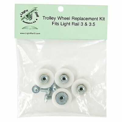 Light Rail 3.5 4.0 - Trolley Wheel Replacement Kit - hanger mover reflector