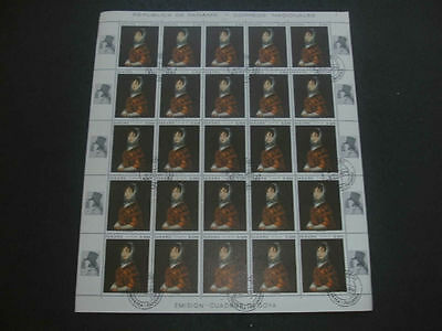 Panama 1967 F. Goya Paintings 4c Full Complete Sheet #S111