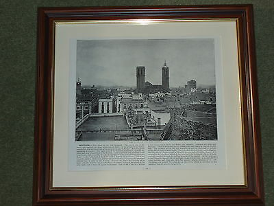 Dated 1895 Print over 120 years old Weymouth Town /& Beach available unframed x