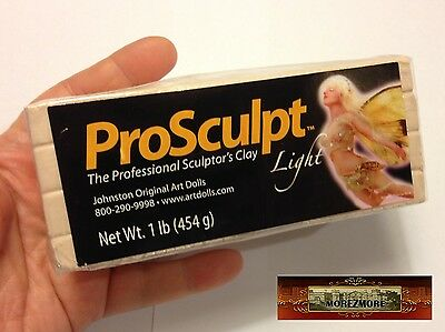 M00149 MOREZMORE Prosculpt 1 lb LIGHT FAIRY FLESH Doll Sculp Polymer Clay T20A
