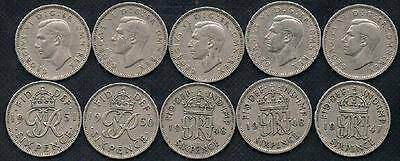 1951 George VI British Wedding Sixpence Coin NO RES.