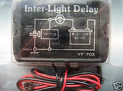 interior light delay switch 12v inside lamp car van or camper FREE UK POST