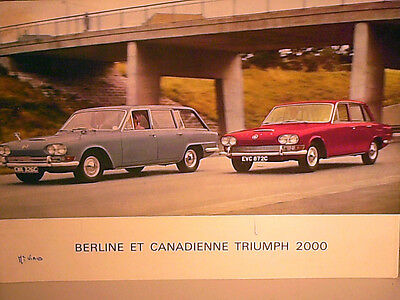 BEAU CATALOGUE TRIUMPH 2000 6cyl + BREAK CANADIENNE 1966 FRENCH EDITION