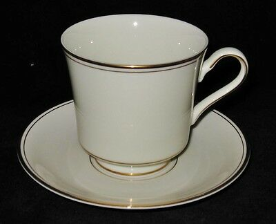 Mikasa Ivory TROUSDALE L2801 Footed Cup & Saucer Set