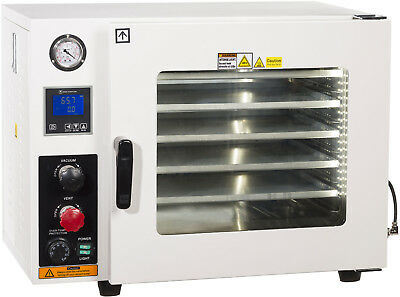 Ai 5 Sided 1.9 CF Vacuum Oven w/ St. St. Tubing Oil-Filled Gauge 2 Year Warranty