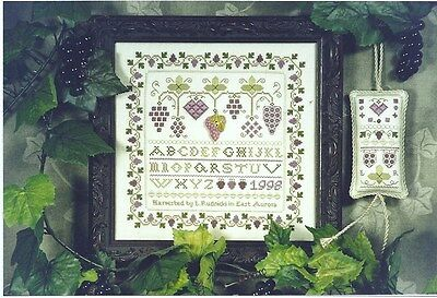 Grape Expectations - Hillside Samplings Counted Cross-Stitch Chart