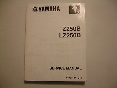 Yamaha Outboard Motor  Z250B LZ250B  Factory Service Shop Repair Manual Aug 2002