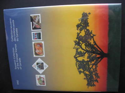 Canada Post official 1992 annual souvenir collection stamps are in mounts