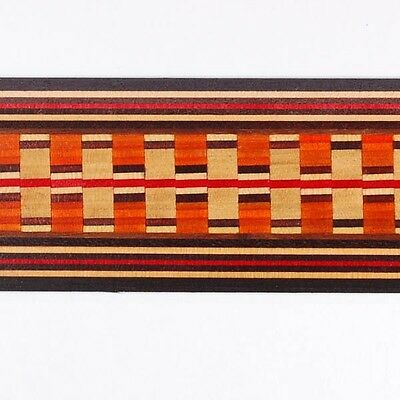 """Amazing 1-11/16""""  Egyptian Marquetry Banding Strips by Buffard Frères (Inlay-34)"""
