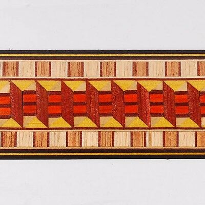 """Amazing 1-3/4"""" Classic Pattern Marquetry Strips by Buffard Frères (Inlay-16)"""