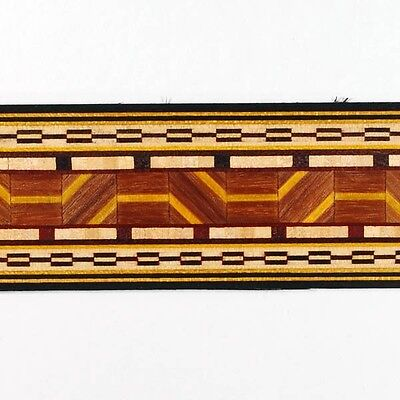 "Amazing 1-1/2"" Geometric Pattern Marquetry Strips by Buffard Frères (Inlay-18)"