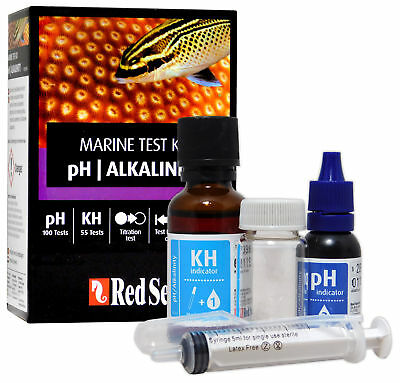 Red Sea Test Kit Ph Kh Alkalinity Marine Care Program Fish Tank Reef Coral