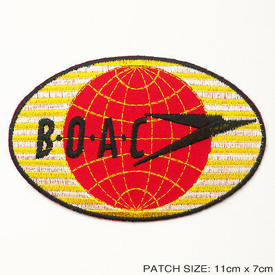 BOAC - 1950's Vintage Replica Passenger's Embroidered Iron-On Patch!