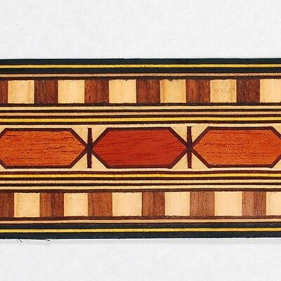 """Wide 1.9"""" Egyptian Motif Buffard Frères Marquetry Banding Strips (Inlay-40)"""