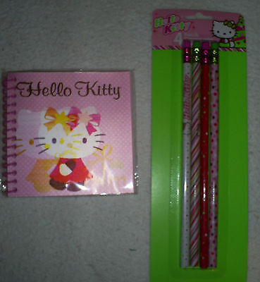 Hello Kitty 60 Sheet Lenticular Cover Journal & Pack of 4 Hello Kitty Pencils