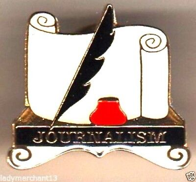 """JOURNALISM"" Enamel Lapel Pins/WHOLESALE LOT OF 25/ALL NEW LINE!"