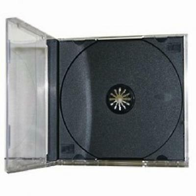 100 Standard CD / DVD JEWEL CASES - BRAND NEW - ASSEMBLED - FREE SHIPPING