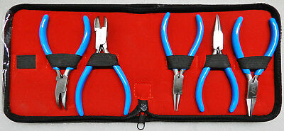 "5 Piece Jewelers Pliers Kit 5"" Jewelry Making Wire Working Hobby Crafts Set 5pc"