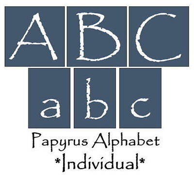 Primitive Stencil~Alphabet-Papyrus~Letters Upper and Matching Lower *INDIVIDUAL*