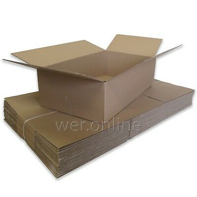 "5 x Postal Packing Home Removal Storage Container Cardboard Boxes 24x18x10"" SW"