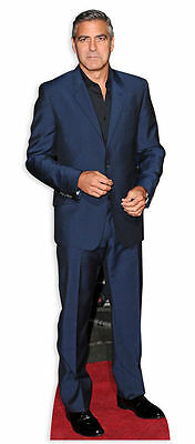 GEORGE CLOONEY LIFESIZE CARDBOARD CUTOUT STANDEE STANDUP Hollywood Star ER Suit
