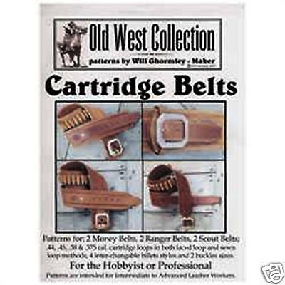 Cartridge Belts Pattern Pack 6015-04 Tandy Leather Old West