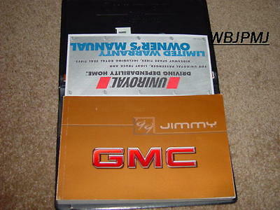1999 GMC Jimmy Factory GM Original Owners Manual Set Complete Brand New