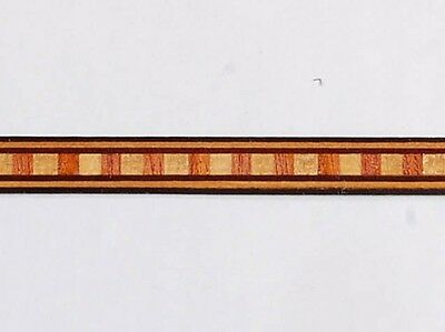 Lot of Five - Medium Dental - Buffard Frères Marquetry Banding Strips (Inlay-89)