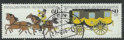 GERMANY. 1985. MORPHILA Stamp Exhibition Set. SG: 2104a. Fine Used Pair.